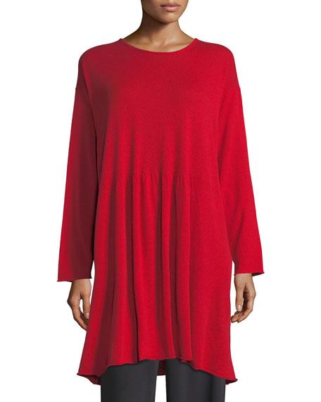 A-Line Cashmere Tunic Sweater