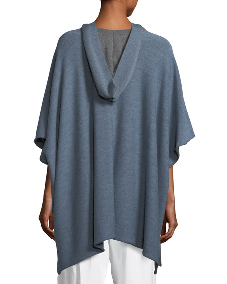 Hooded Wool Pullover Top