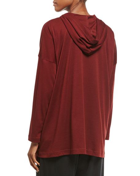 Pima Cotton Zip-Front Hoodie