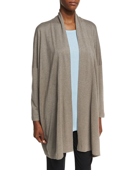 Relaxed Open-Front Cardigan