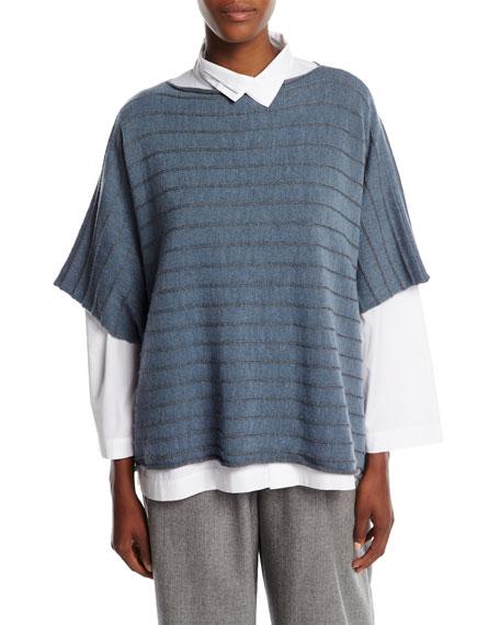 Striped Knit Caftan Sweater