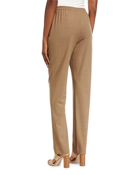 Stretch-Wool Narrow Trousers