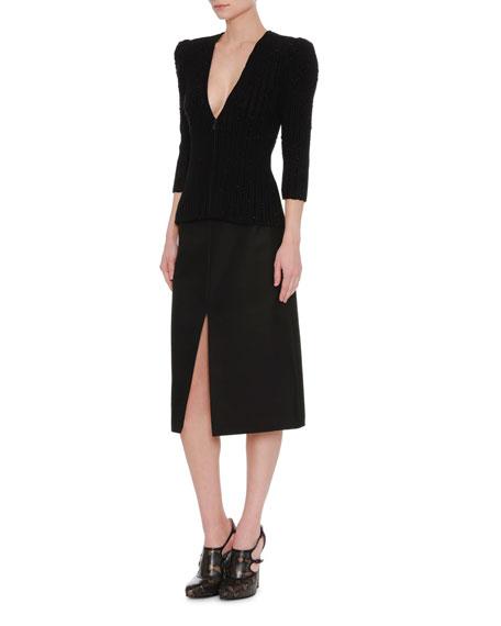 A-Line Slit-Front Skirt
