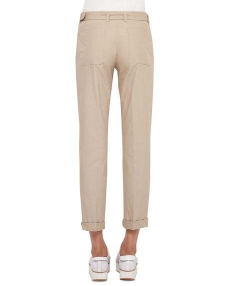 Fallon Belted Chino Pants, Sand