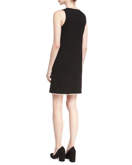 Sleeveless Pearly Hem Shift Dress