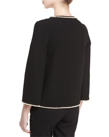 Pearl Beaded Short Jacket
