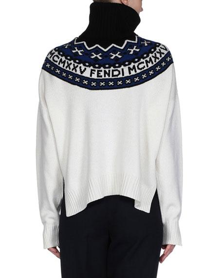 Logo Fair Isle Turtleneck Sweater