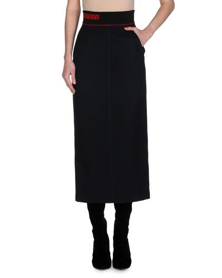 a013ed5e179b Fendi Gabardine Pencil Skirt
