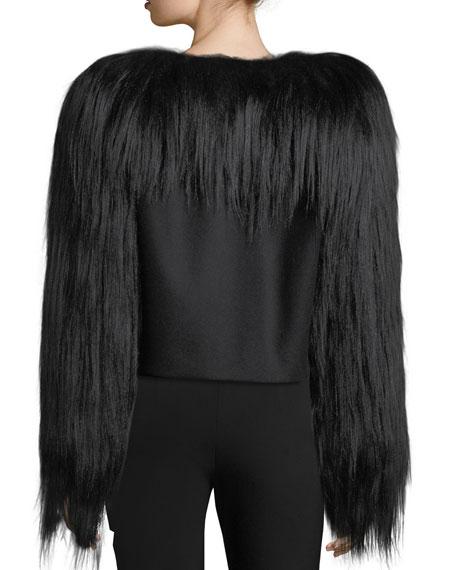 Fur-Trim Wool Jacket