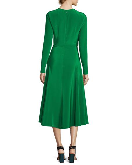 The Canaan Long-Sleeve Circle Skirt Dress