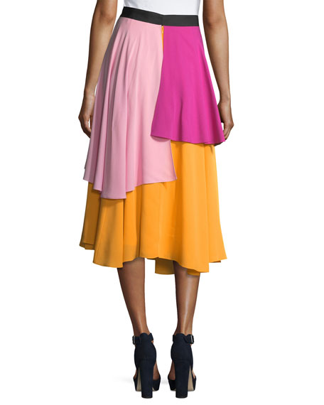 The York Layered Midi Skirt