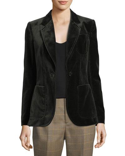 Afton Velvet Blazer Jacket