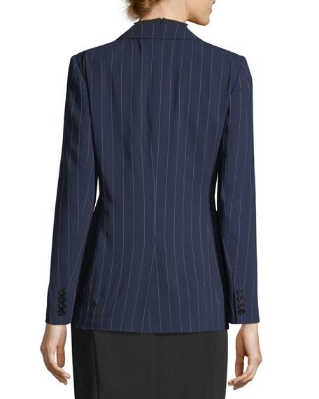 Fabian Pinstriped Wool Jacket