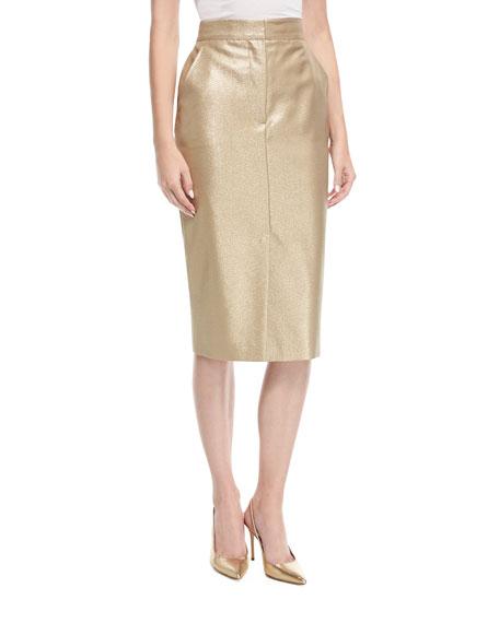 Metallic Pencil Skirt