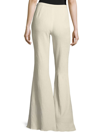 Wide-Leg Chenille Pants