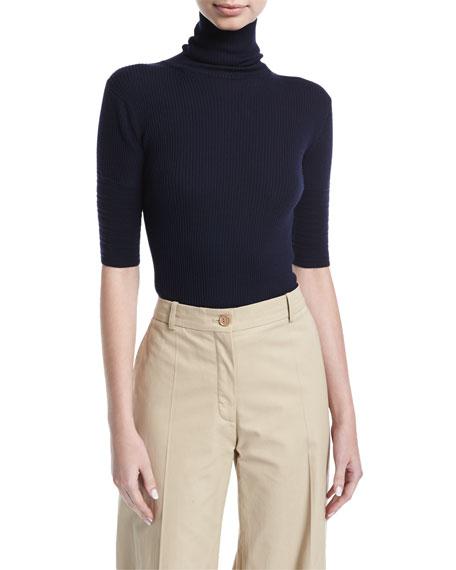 Half-Sleeve Turtleneck Sweater