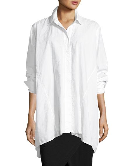 Oversized Poplin Blouse, White