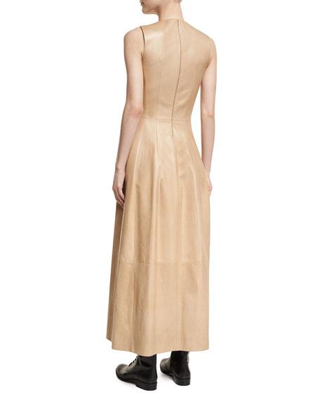 Bonec Sleeveless Leather Maxi Dress