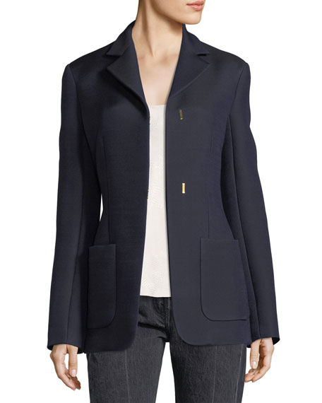 Perse Hook-Front Jacket