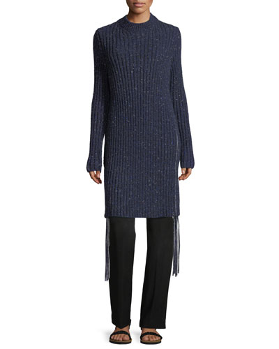 Atuni Cashmere Side-Zip Sweaterdress