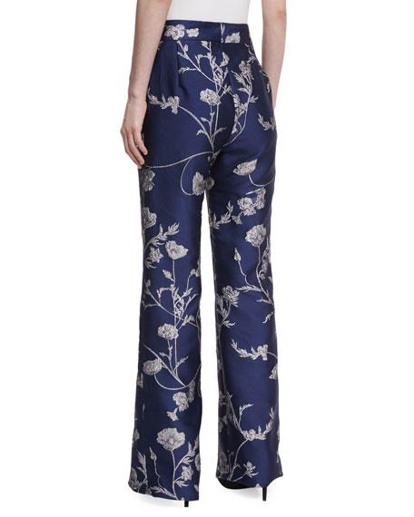 Arina Metallic Jacquard Pants