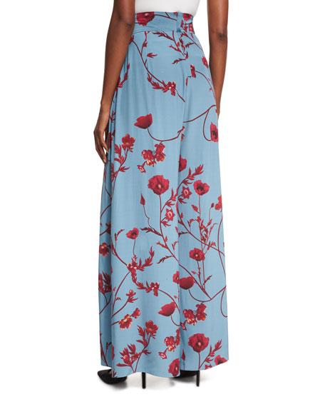 Romani Floral-Print Wide-Leg Pants