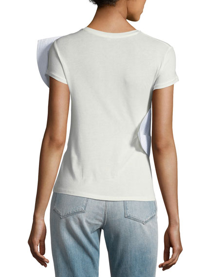 Lennon Short-Sleeve Bow T-Shirt
