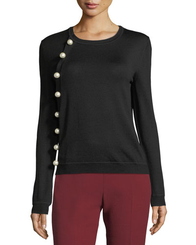 Minamoto Open-Knit Turtleneck Sweater