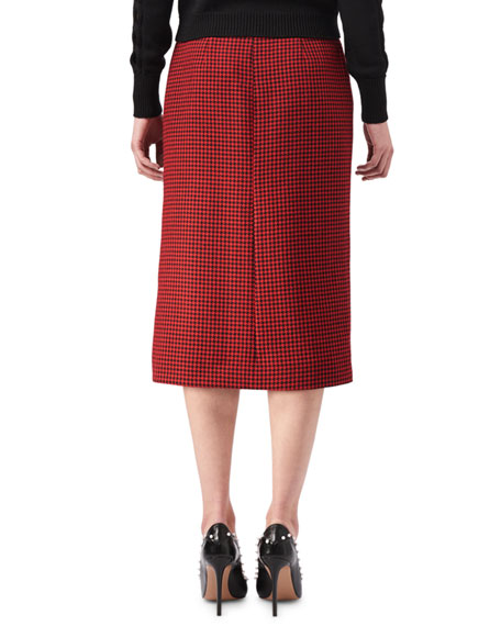 Christofor Houndstooth Button Skirt