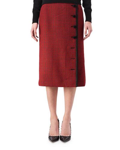 Christofor Houndstooth Button Skirt
