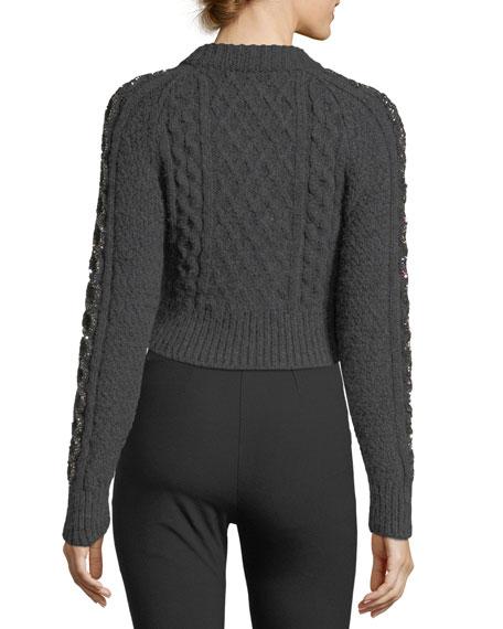 Grandma's Cropped Blanket Sweater
