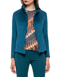 Hello Seamed Cashmere Jacket, Seabiscuit