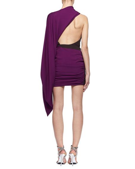 Kimono-Sleeve Colorblock Dress
