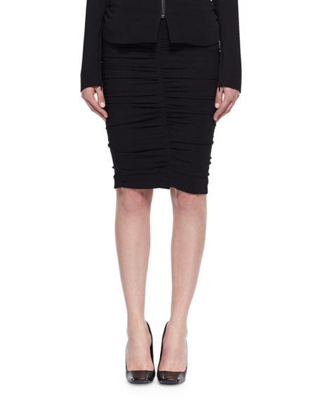 Shirred Cady Pencil Skirt