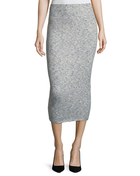 Signature Fitted Felt Skirt