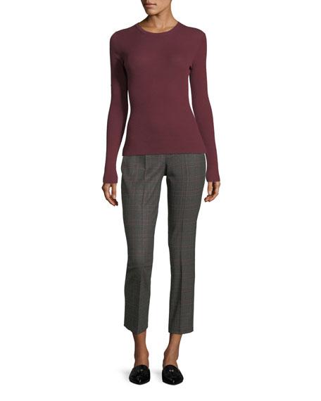 Samantha Cropped Plaid Pants