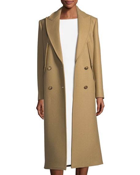 0cc4bc3941 Michael Kors Collection Double-Breasted Wool Coat