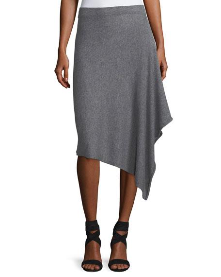 Asymmetric Cashmere Handkerchief Skirt