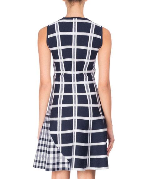 Sleeveless Tartan Check Mini Dress