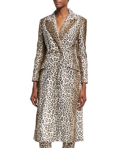Ellis Leopard-Print Coat