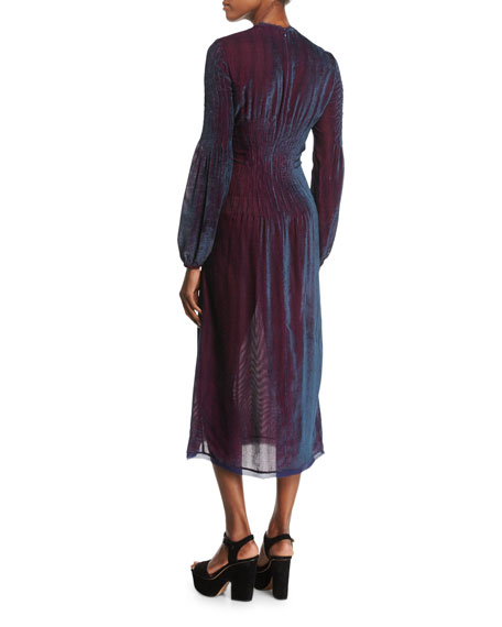 Ruby Velvet Corduroy Dress