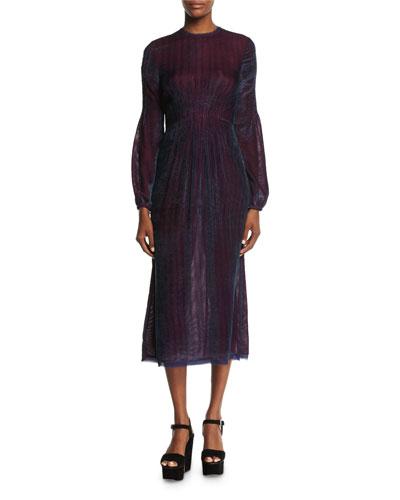Ruby Velvet Corduroy Dress