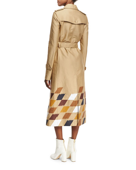 Rosalie Checkerboard Trenchcoat