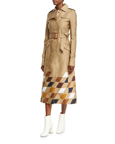 Rosalie Checkerboard Trenchcoat