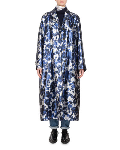 Rankin Long Floral-Print Coat