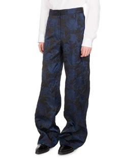 Panter Brocade Wide-Leg Pants