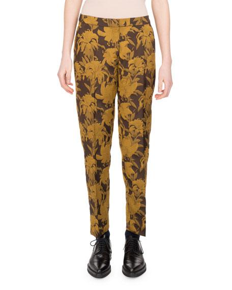 Poumas Floral Jacquard Pants