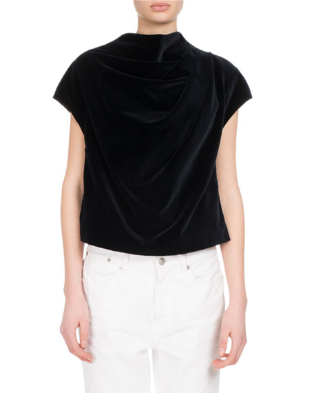 Cozumel Draped Cotton Top