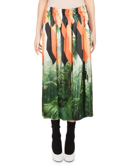 Shens Palm-Print Skirt