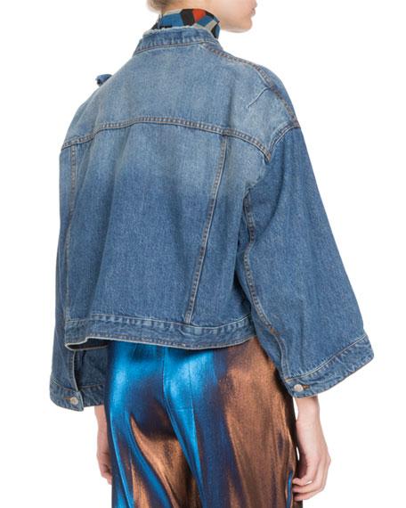 Visti Cropped Denim Jacket